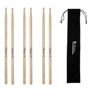 Antner 3 Pairs Maple Wood Drumsticks 7A Drum Sticks for Kids and Beginners