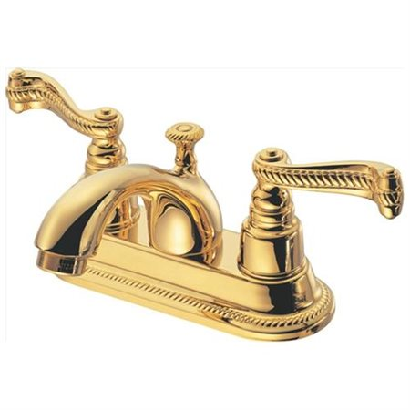 Pegasus F50B8201PBV 5000 Series 4 in. 2-Handle Lavatory Faucet in Polished Brass