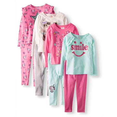 365 Kids From Garanimals Girls' Kid-Pack Mix and Match Outfits 8-Piece Set