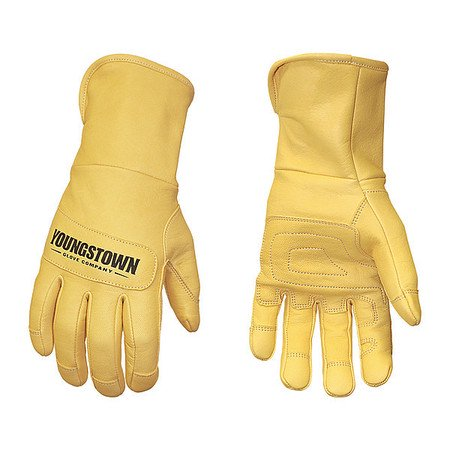 YOUNGSTOWN GLOVE CO  11-3245-60-M Leather 3D Pattern Gloves,Tan,M,PR