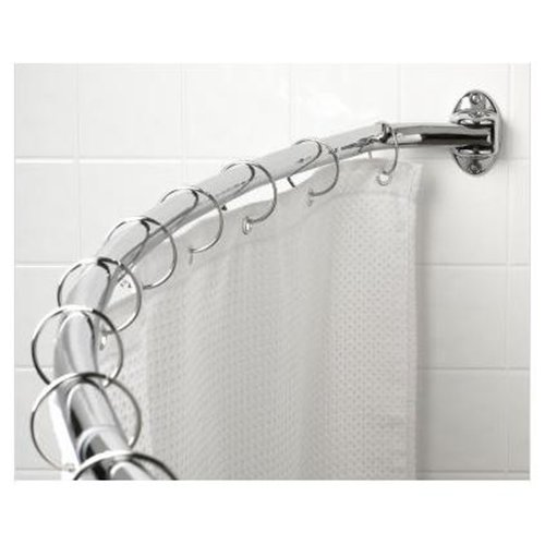 Zenith 35603ss06 Adjustable Hotel Shower Curtain Rod 60 72