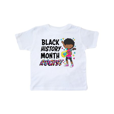 Black History Month Rocks!- girl with guitar Toddler T-Shirt