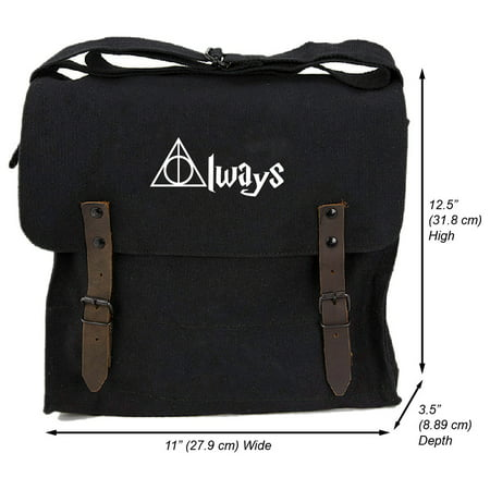 Grab A Smile Always Harry Potter Decal Heavyweight Canvas Medic Shoulder Bag (Harry Potter Purses)