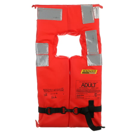 - Seachoice 85900 Type I Commercial Offshore Vest, Fluorescent Orange, Reflective Panels, Adult Size for Over 90 Pounds