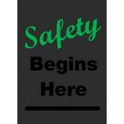 NOTRAX 194SH46CHG Safety Logo Entrance Mat,Dark Gray,4x6ft