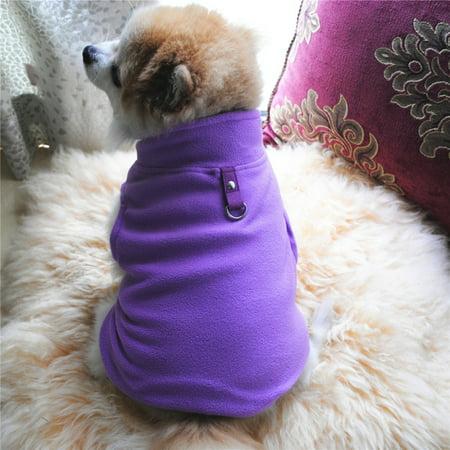 XS-3XL Pet dog Thermal Jacket Warm Coat Sweater Puppy Fleece Jacket Outwear Fleece Dog Coat