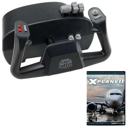 CH Products Flight Sim Yoke and X-Plane 11 DVD Bundle Ch Usb Flight Sim Yoke