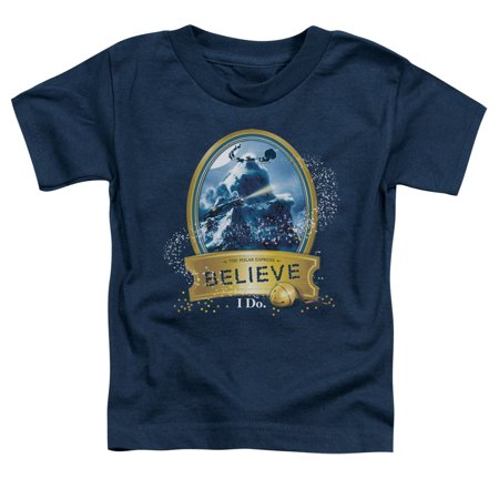 Trevco POLAR EXPRESS TRUE BELIEVER Navy Toddler Unisex T-Shirt