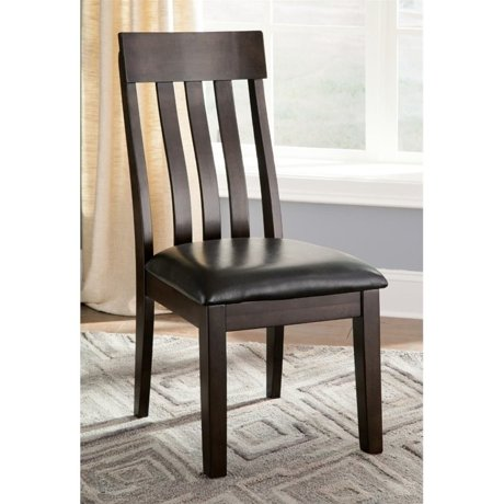 Ashley haddigan upholstered dining chair in dark brown for Meuble ashley circulaire