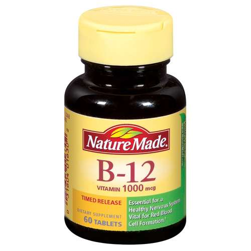 Nature Made: Vitamin B-12 1000 Mcg Timed Release Tablets Dietary Supplement, 60 Ct