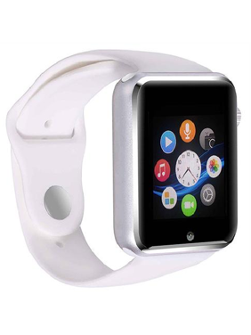 Amazingforless Premium G6 White Bluetooth Smart Wrist Watch Phone mate for Android Samsung HTC LG Touch Screen with Camera