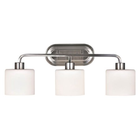 CHLOE Lighting LEIA Transitional 3 Light Brushed Nickel Bath Vanity Light 24