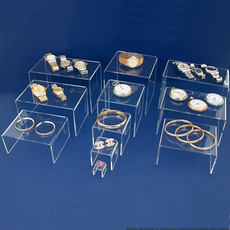 11 Acrylic Riser Jewelry Display Showcase Stands