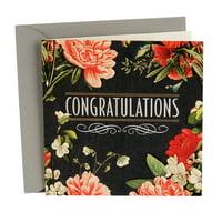 Hallmark Wedding Card: Flowery Congratulations