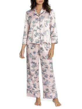 Secret Treasures Women's and Women's Plus Satin Pajama Sleep Set