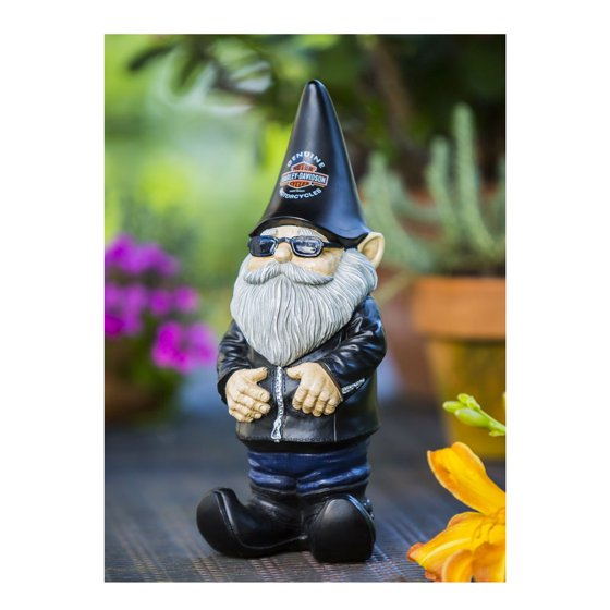 Evergreen Flag Garden Knucklehead The Harley Davidson Gnome Statue