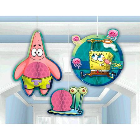 Spongebob Squarepants Honeycomb Decorations (3pc) for $<!---->