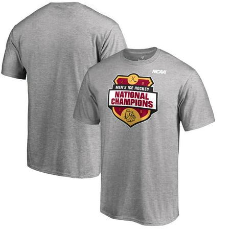 Minnesota Duluth Bulldogs Fanatics Branded 2019 NCAA Men's Ice Hockey National Champions T-Shirt - Heather