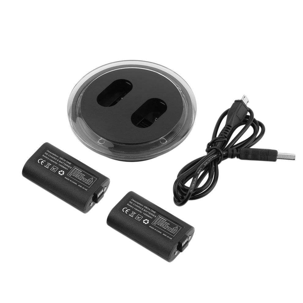 For XBOX ONE Controller Play Charging Cable 2 Batteries Gamepad Charger Kit