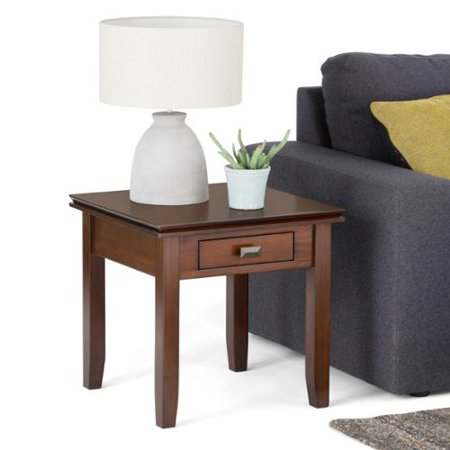 WyndenHall  Stratford Auburn Brown End Table (Auburn Square)