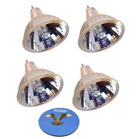 HQRP 4-Pack 120V 150W MR16 Shape GY5.3 Base Halogen Lamp Bulb for DMD Intraoral Camera / TeliCam with Memory Replacement plus HQRP Coaster