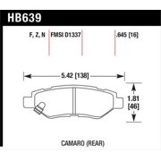 Hawk Camaro V6 HPS Street Rear Brake Pads