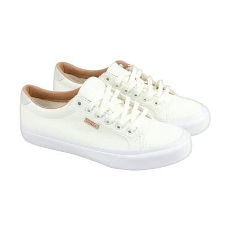 6df9d15278c1a8 Vans Court + Mens Beige Canvas Lace Up Sneakers Shoes - Walmart.com