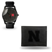 Nebraska Cornhuskers Sparo Black Strap Watch & Wallet Gift Set - No Size