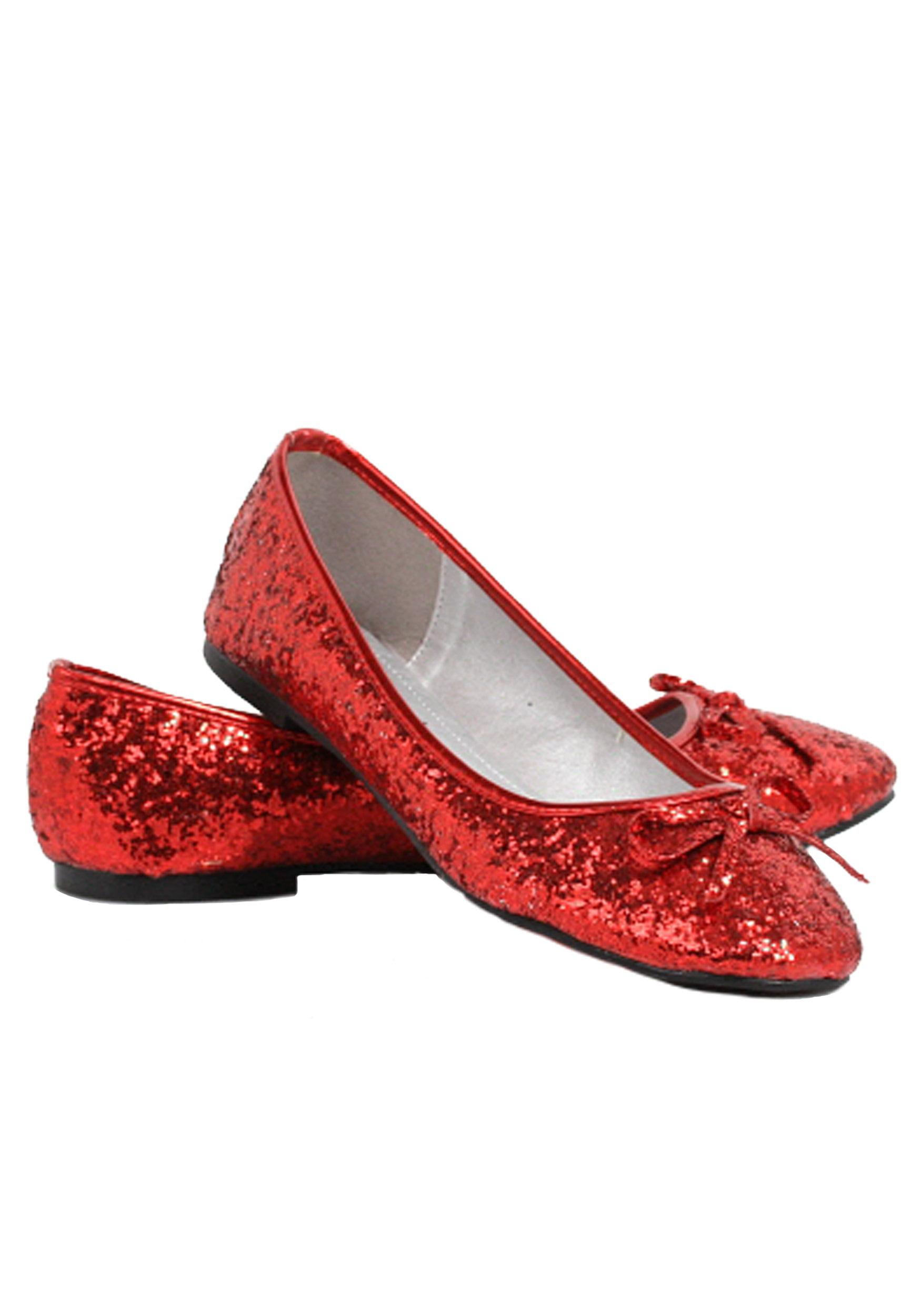 Red Glitter Star Flat Shoes - Walmart