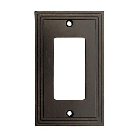 - Cosmas 25000-ORB Oil Rubbed Bronze Single GFI / Decora Rocker Wall Switch Plate Switchplate Cover