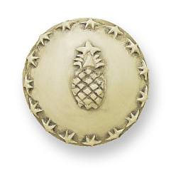 (10 Pack) Faux Ivory Carved Pineapple Knob 42mm