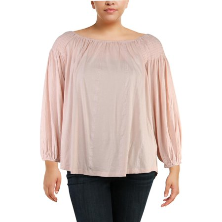 Ralph Lauren Womens Pink Long Sleeve Scoop Neck Top  Size: XL