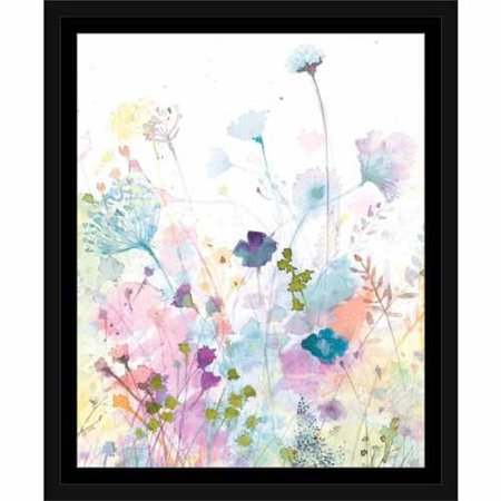 Watercolor Nature Floral Botanical Silhouette Painting Purple ...