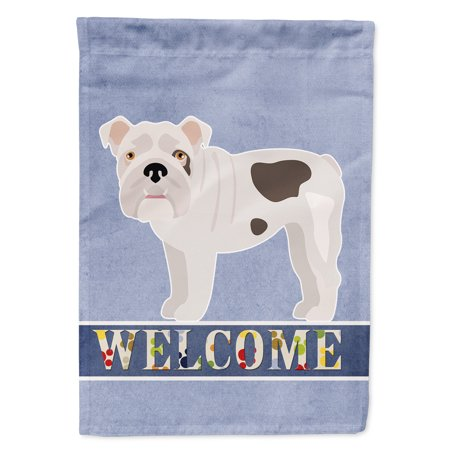 Image of Bulldog, English Bulldog Welcome Flag Canvas House Size