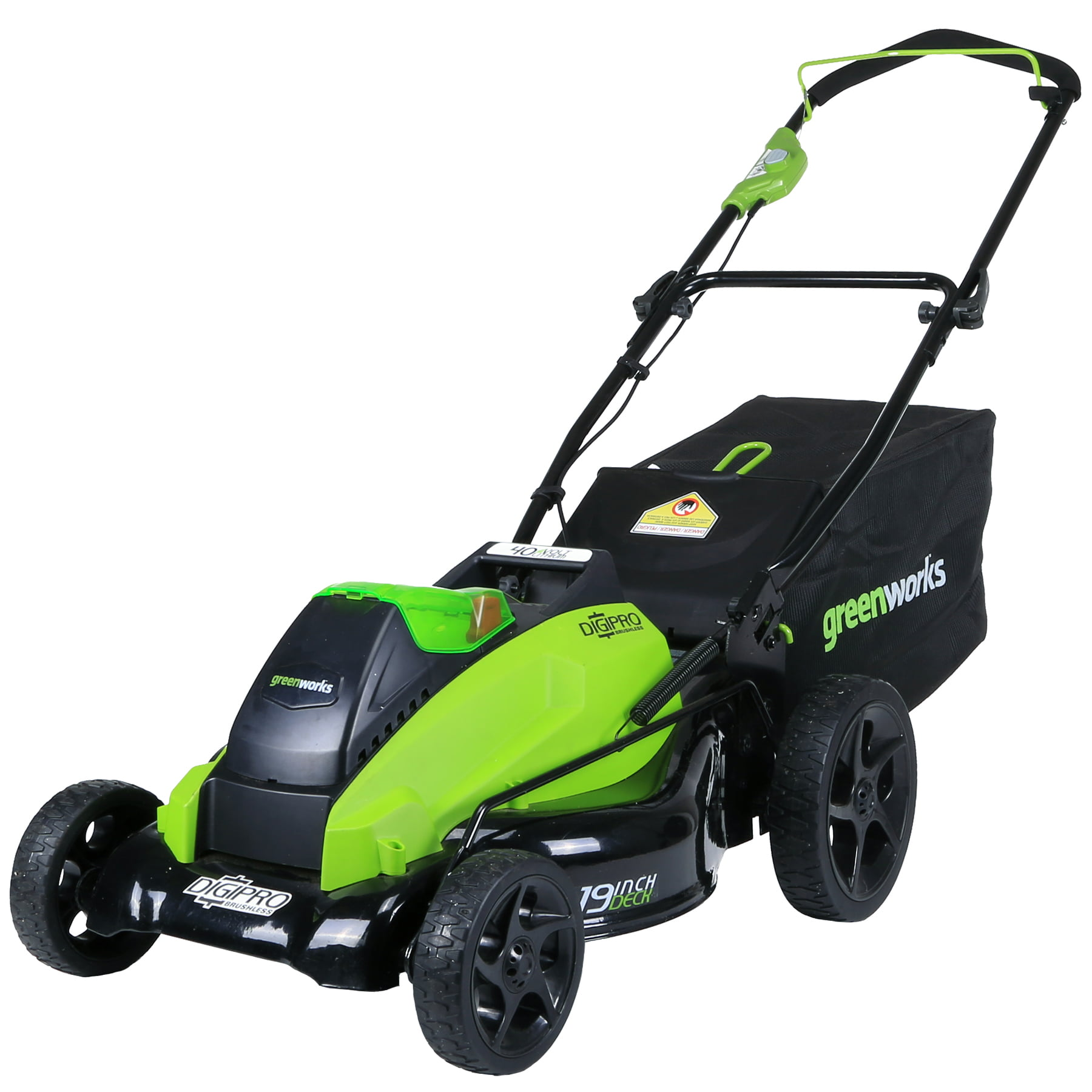 Greenworks 19-Inch 40V Cordless Lawn Mower, Battery Not Included 2501302 by Sunrise Global Marketing