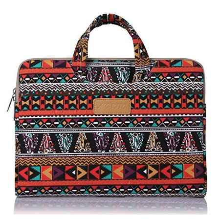 Ladies Laptop Carrying Case - Laptop Briefcase, Bohemian Style Canvas Fabric 11-11.6 Inch Carry Case Sleeve for Acer Chromebook 11 / HP Stream 11 / Samsung Chromebook 2 / Notebook Computer / MacBook Air,Phoenix