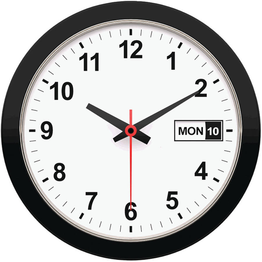 Timekeeper 12 Quot Day And Date Wall Clock Walmart Com