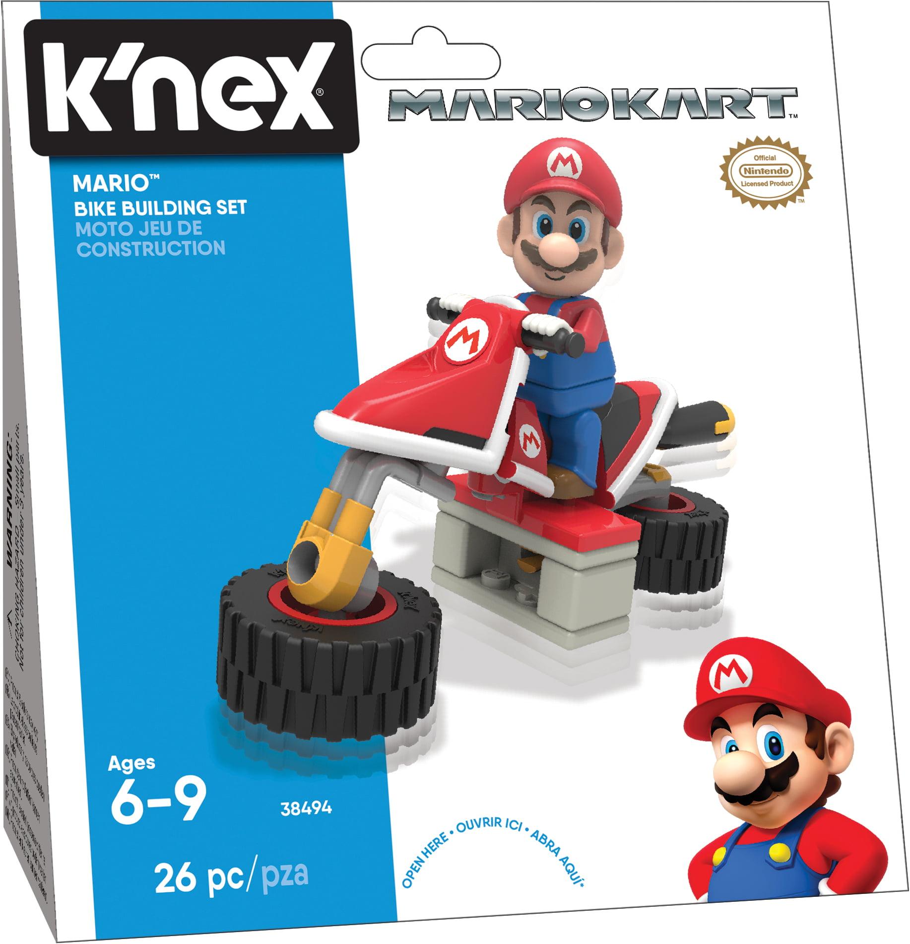 K'NEX - Mario Kart Bike Building Set - 26 Pieces - Ages 6 Construction Toy