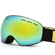 Ski Goggles Double Layers UV400 Anti-fog Snowboard Eyewear Anti-fog Big Ski Mask Glasses Snow Snowmobile Man Women Skiing Outdoor Sport