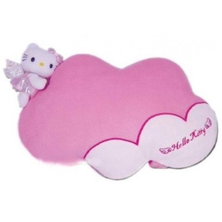 Hello Kitty Angel Pink and White Soft Plush Headrest (Best Hello Kitty Presents)