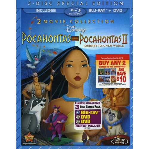 Pocahontas / Pocahontas II: Journey To A New World: Special Edition (Blu-ray + 2-Disc DVD) (Widescreen)