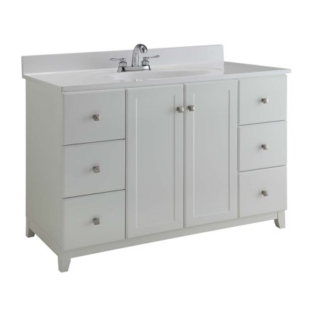 Design House 547182 Shorewood Unassembled 2-Door 6-Drawer Vanity without Top, 21u0022, White