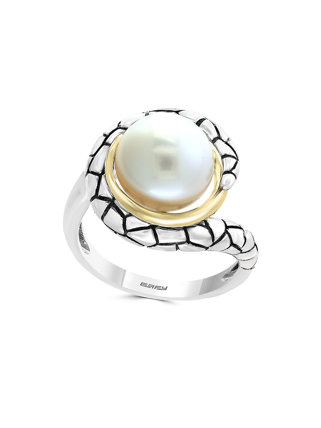 10MM Freshwater Pearl and Sterling Silver Ring