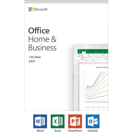 Microsoft Office Home and Business 2019 | 1 device, Windows 10 PC/Mac Key Card (Microsoft Office Product Key)