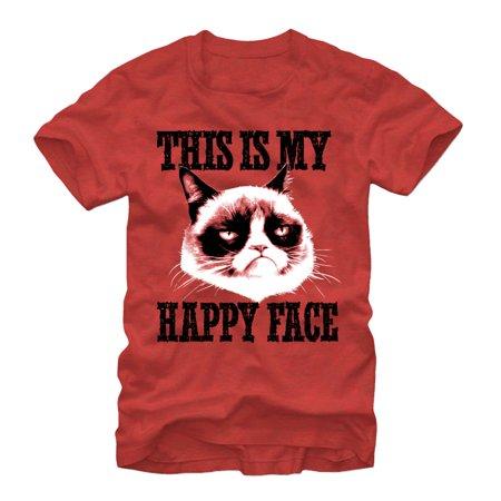 Grumpy Cat Men's This is Happy - Grumpy Cat Happy Halloween