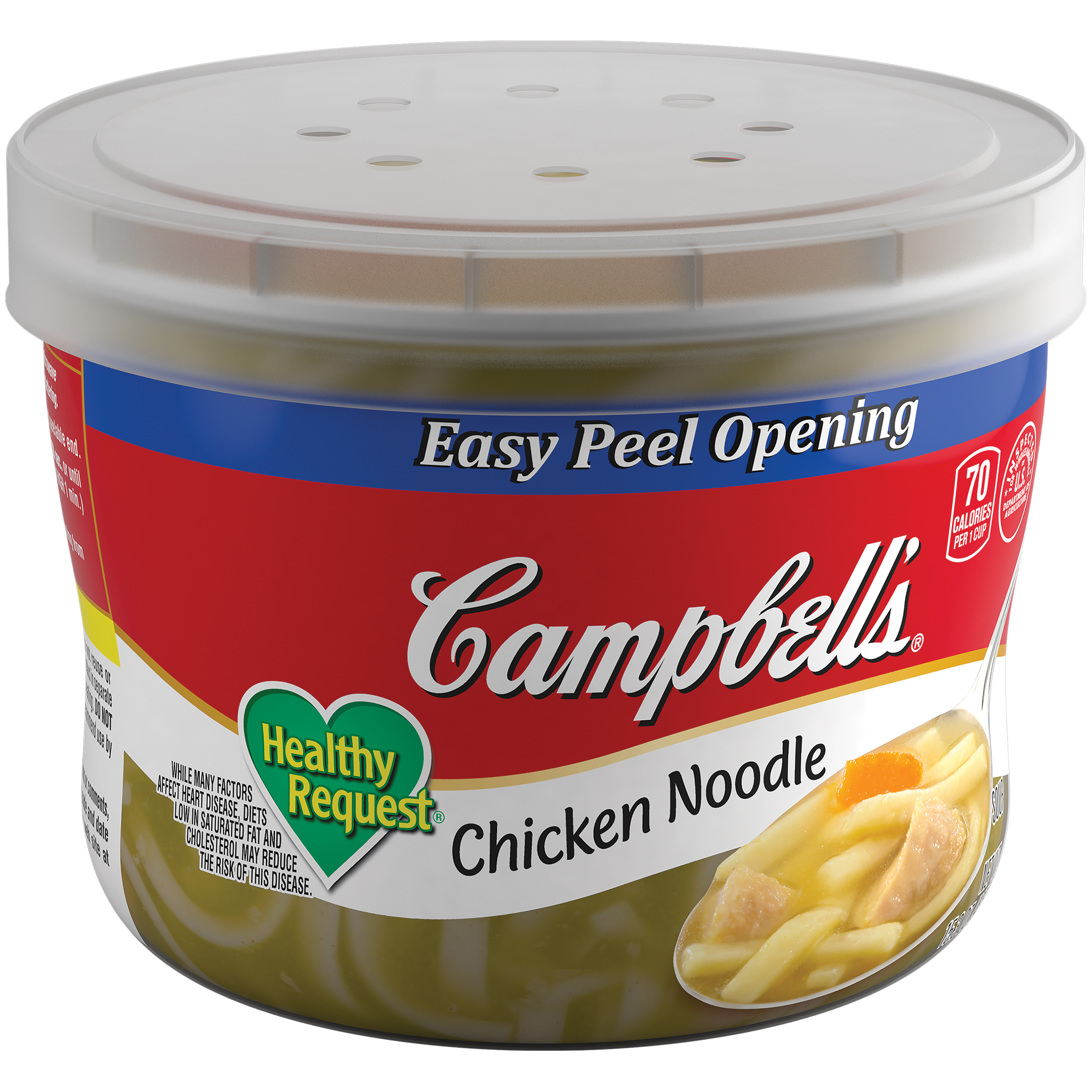 Campbell's Healthy Request Chicken Noodle Soup 15.3oz Bowl