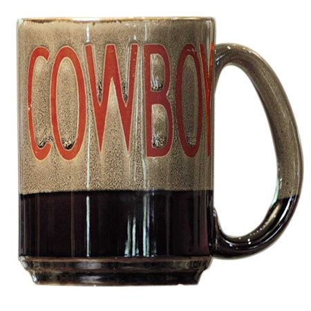 M&F WESTERN MOMANTS OVERSIZED COWBOY PRINT CERAMIC COFFEE MUG 16OZ