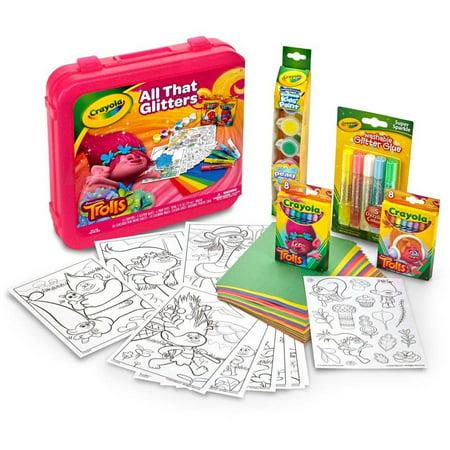 Crayola Trolls All That Glitters Art Set, 50 Pieces