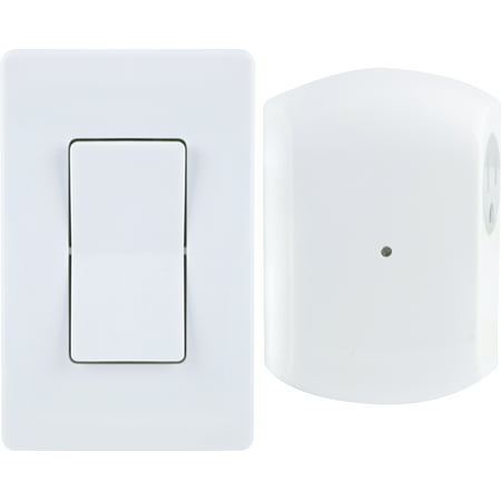 GE Wireless Wall Switch Lighting Control with Remote, (Wireless Plate)