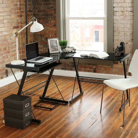 3piece glass computer desk multiple finishes